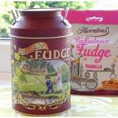 Fudge Tin & Thorntons Vanilla Fudge  ファッジ缶&ソートンズ バニラファッジ