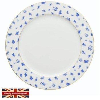 【MRS MOORE】ALICE Chintz White Dinner Plate<br>ミセスムーア 不思議の国のアリス チンツ ホワイト ディナープレート