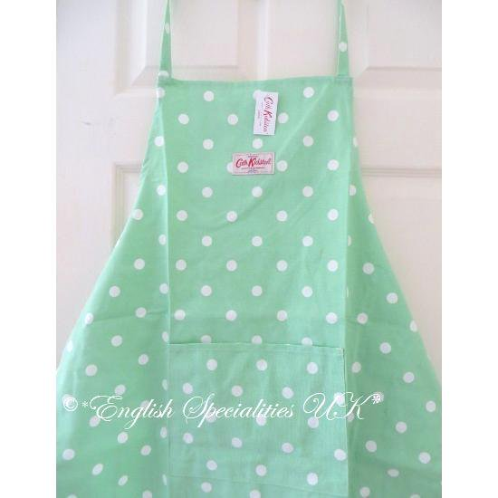 ★Sale!【Cath Kidston】Cooks Apron Spot Greenキャスキッドソン エプロン スポットグリーン