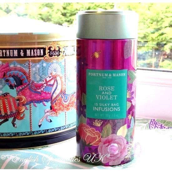 【Fortnum & Maison】Rose & Violet Infusion Tinフォートナム&メイソン ローズ&バイオレット インフュージョン