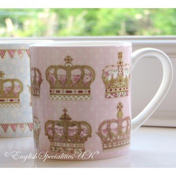 【QUEENS】Crown Chinz Mug Pink <br>クイーンズ クラウンチンツ マグカップ(ピンク)