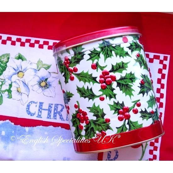 【Churchill's】Winter Berries Oval Tin with Vanilla Fudge 200 gチャーチルズ ウインターベリー缶 チョコレートファッジ
