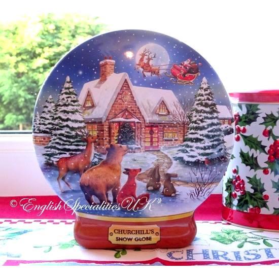 【Churchill's】Snowglobe Tin Shortbreadチャーチルズ スノーグローブ缶 ショートブレッド
