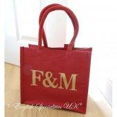 【Fortnum & Maison】Christmas RED Eco Bag -Smallフォートナム&メイソン クリスマス レッド エコバッグ - スモール