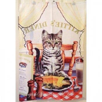 【Samuel Lamont】Kittie's Diner Cotton Tea Towel<br>サミュエルラモント キティーズディナー コットン ティータオル