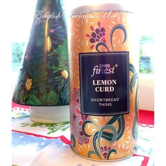 【TESCO】Lemon Curd Shortbread Thinsテスコ  レモンカード ショートブレッド缶
