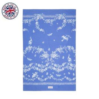 【The Royal Collection】ROYAL BIRDSONG BLUE Tea Towel<br>バッキンガム宮殿 ロイヤルバードソング  ブルー ティータオル