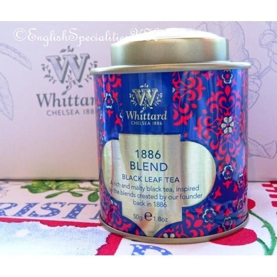 【Whittard】1886 Blend LEAF Tea SMALL Christmas Tinウィタード 1886ブレンドリーフ紅茶 クリスマス缶(スモール)