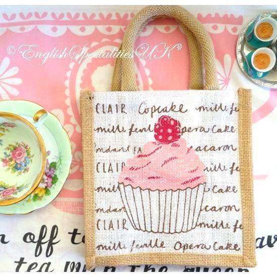 【TESCO】Cup Cake Jute Small Bagテスコ カップケーキ ジュートエコバッグ スモール