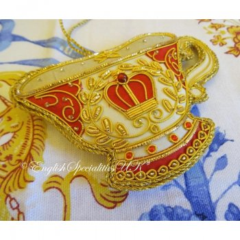 【The Royal Collection】BUCKINGHAM PALACE TEACUP DECORATION<br>バッキンガム宮殿 ティーカップデコレーション