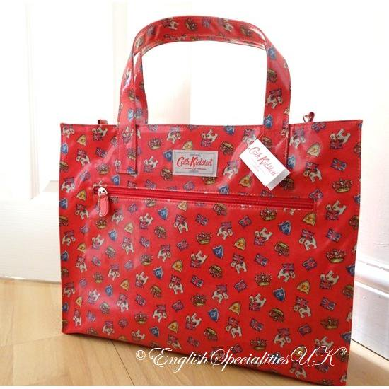 ★Sale!【Cath Kidston】Royal Stan Red Carry All Bagキャスキッドソン  ロイヤルスタンレッド キャリーオールバッグ