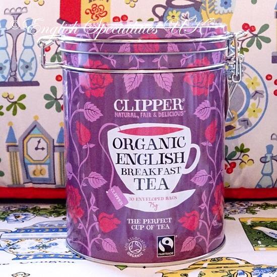 【Clipper】 Organic ENGLISH BREAKFAST Teabags Caddyクリッパー オーガニックブレックファースト紅茶 キャディー: 30ティーバッグ