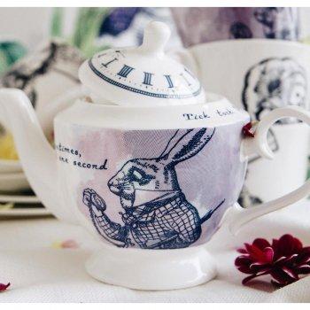 【Whittard】Alice in Wonderland White Rabbit Teapot<br>ウィッタード 不思議の国のアリス ホワイトラビットティーポット