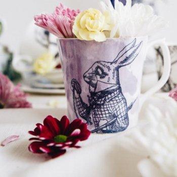 【Whittard】ALICE IN WONDERLAND  White Rabbit Mug<br>ウィッタード 不思議の国のアリス ホワイトラビットマグ