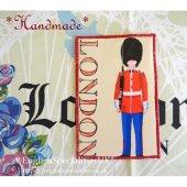 *ハンドメイド* 布のポストカード - ロンドン<br> *HANDMADE* Fabric Post Card  - London