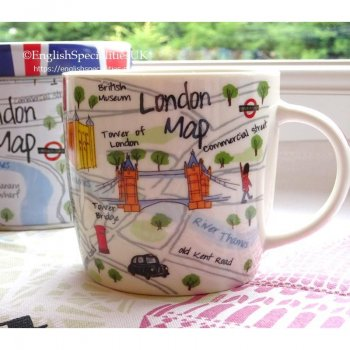 【JAMES SADLER】London Map Mug in Tin <br>ジェームスサドラー ロンドンマップ 缶入りマグ
