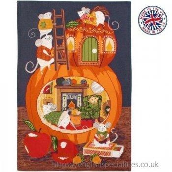 【Ulster Weavers】Cosy Pumpkin Cotton Tea Towel<br>アルスターウィーバー コージーパンプキンティータオル