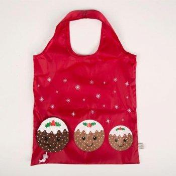 【Sass & Bell】Christmas Pudding  Shopping Bag<br>サス&ベル クリスマスプディング フォーダブルショッピングバッグ