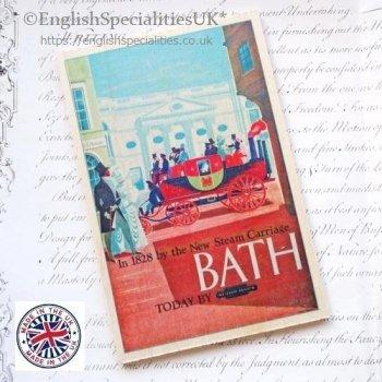 BATH Wooden Postcard<br>バース スチームキャリッジ*木のポストカード*