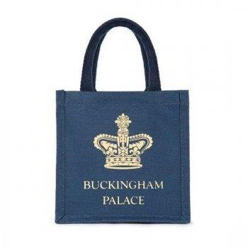 【Royal Collection】Buckingham Palace Navy MINI Juco Bag<br>バッキンガム宮殿 ネイビー ミニ ジューコ エコバッグ