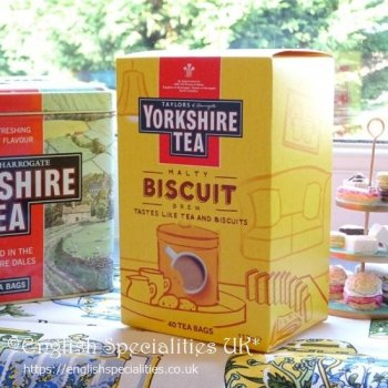 【Yorkshire Tea】Biscuit  Brew Teabags<br>ヨークシャー紅茶 ビスケットブリューティーバッグ