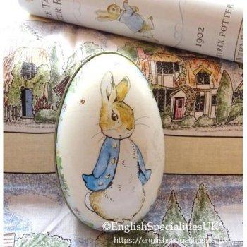【Peter Rabbit】 Egg Tin<br>ピーターラビットエッグ缶 (缶のみ)