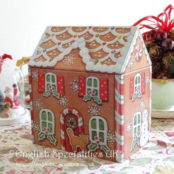 Gingerbread House Tin &Gingerbread Men<br>ジンジャーブレッドハウス缶&ジンジャーブレッドマン
