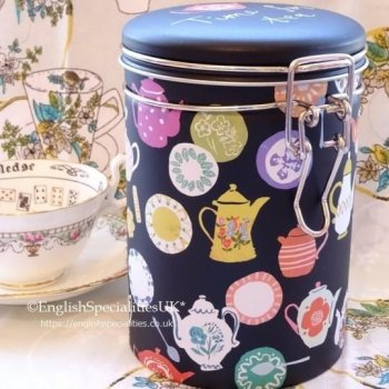 Time For Tea Caddy & English Breakfast Teabags<br>タイムフォーティーキャディー& イングリッシュブレックファースト ティーバッグ