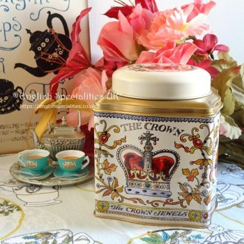 <img class='new_mark_img1' src='https://img.shop-pro.jp/img/new/icons53.gif' style='border:none;display:inline;margin:0px;padding:0px;width:auto;' />【Emma Bridgewater】The Crown Jewels Caddy English Tea<br>エマブリッジウォーター クラウンジュエル キャディー:イングリッシュティー