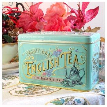 【New English Teas】VICTORIAN TIN English Breakfast Teabag<br>ニューイングリッシュティーズ ヴィクトリアン缶 ブレックファーストティー