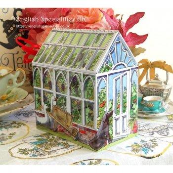 【Emma Bridgewater】Greenhouse Caddy English Teabags<br>エマブリッジウォーター グリーンハウス キャディー:イングリッシュティー
