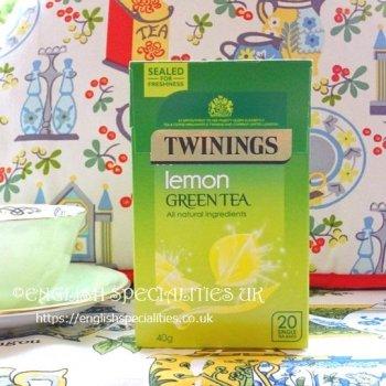 【Twinings】GreenTea LEMON<br>トワイニング グリーンティー  レモン: 20バッグ