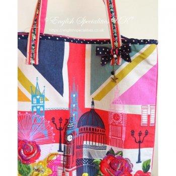 【Accessorize】Union Jack LONDON SHOPPER BAG <br>アクセサライズ ユニオンジャック ロンドン ショッパーバッグ