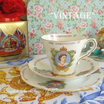 【グラッドストーン】エリザベス女王1953年戴冠式*ヴィンテージ*トリオ<br>GLADSTONE - Queen Elizabeth II 1953 Coronation Trio
