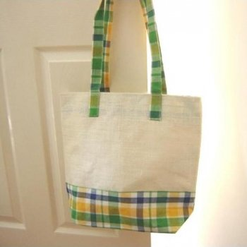 Jute Eco Shopping Bags:Check<br>ジュート エコショッピングバッグ チェック柄