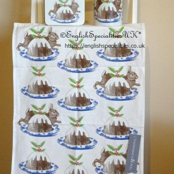 <img class='new_mark_img1' src='https://img.shop-pro.jp/img/new/icons15.gif' style='border:none;display:inline;margin:0px;padding:0px;width:auto;' />【Thornback & Peel】Rabbit & Pudding Tea Towel <br>ソーンバック&ピール ラビット&プディング ティータオル(英国製)