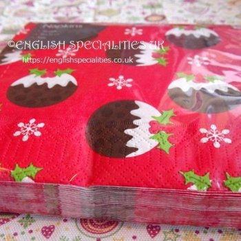 <img class='new_mark_img1' src='https://img.shop-pro.jp/img/new/icons15.gif' style='border:none;display:inline;margin:0px;padding:0px;width:auto;' />【Paper Napkin】Christmas Pudding Red<br>ぺーパーナプキン クリスマス プディング レッド