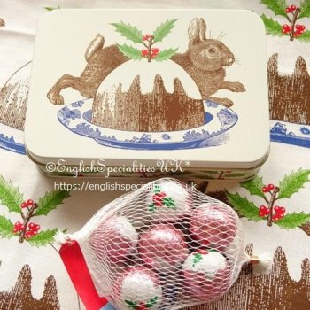 <img class='new_mark_img1' src='https://img.shop-pro.jp/img/new/icons53.gif' style='border:none;display:inline;margin:0px;padding:0px;width:auto;' />【Thornback & Peel】Rabbit & Pudding Tin -  Chocolate  <br>ソーンバック&ピール ラビット&プディング缶 - チョコレート