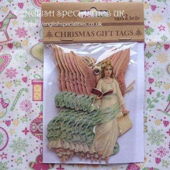 【Sass & Bell】Retro Vintae Angel Christmas Tags <br>サス&ベル レトロヴィンテージエンジェル クリスマスタグ