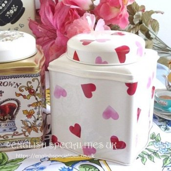 <img class='new_mark_img1' src='https://img.shop-pro.jp/img/new/icons15.gif' style='border:none;display:inline;margin:0px;padding:0px;width:auto;' />【Emma Bridgewater】Pink Hearts Caddy English Tea<br>エマブリッジウォーター ピンクハート キャディー:イングリッシュティー