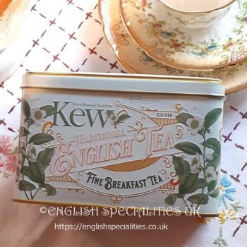<img class='new_mark_img1' src='https://img.shop-pro.jp/img/new/icons15.gif' style='border:none;display:inline;margin:0px;padding:0px;width:auto;' />【New English Teas】Kew Gardens Tin English Breakfast Teabag<br>ニューイングリッシュティーズ キューガーデン缶 ブレックファーストティー