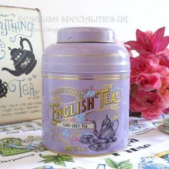 【New English Teas】LAVENDER Victorian Earl Grey 80 Teabags<br>ニューイングリッシュティーズ ヴィクトリアン ラベンダー缶