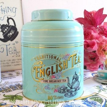 【New English Teas】Mint Green Victorian Breakfast 80 Teabags<br>ニューイングリッシュティーズ ヴィクトリアンミントグリーン缶