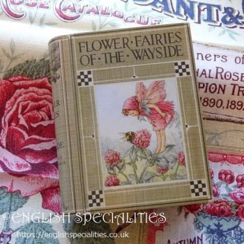 <img class='new_mark_img1' src='https://img.shop-pro.jp/img/new/icons15.gif' style='border:none;display:inline;margin:0px;padding:0px;width:auto;' />【Flower Fairies 】 Book Tin &  Teabags<br>フラワーフェアリーズ 花の妖精 ブック缶 & ティーバッグ紅茶