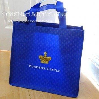 【Royal Collection】Windsor Castle Eco Shopper Navy<br>ロイヤルコレクション ウィンザー城 エコバッグ ネイビー
