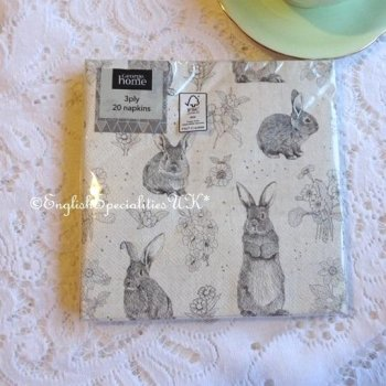 <img class='new_mark_img1' src='https://img.shop-pro.jp/img/new/icons15.gif' style='border:none;display:inline;margin:0px;padding:0px;width:auto;' />【Paper Napkin】 Rabbit <br>ぺーパーナプキン ラビット