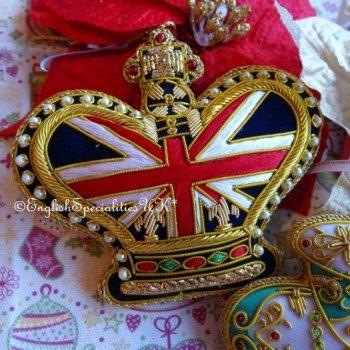 Union Jack crown tree decoration<br>ロイヤルパレス ユニオンジャック クラウン ツリーデコレーション