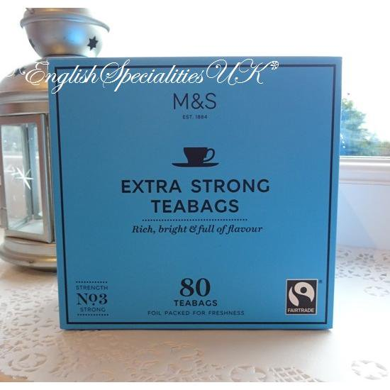 【M&S】Fairtrade ExtraStrong 80bagsマークス&スペンサー 紅茶 エクストラストロング:80バッグ