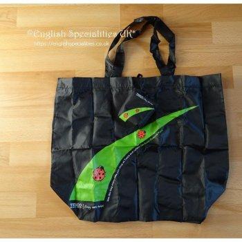 【TESCO】Lady Bird Fold Away Shopping Bag <br>テスコ てんとう虫 フォールドアウェイ ショッピングバッグ