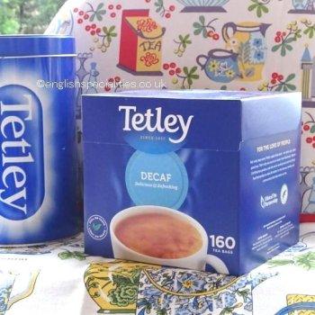 【Tetley】 Decaf 160 Teabags <br>テトリー 紅茶 デカフェ :160ティーバッグ